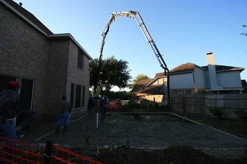 Boy Toy!  Cement pumper truck(Backyard 2)