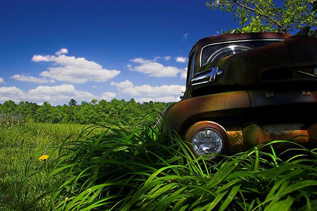 blue sky green ford grass clouds rural nc rust bravo quality northcarolina pickuptruck fordpickup fordpickuptruck fordf1 pittcounty canonefs1855mmf3556 outstandingshots fordf1pickup pittcountync fivestarsgallery kkfav outstandingshotshighlight pbnblurb