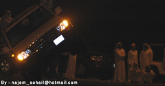 (!  ) Tags: show driving wheels guys burn toyota burnout landcruiser doha qatar qatari quatar