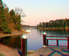 Sandvika Harbor in 3D (PuffinArt) Tags: water harbor 3d agua threedimensional sandvika anaglifo anagliph