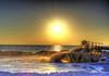 HDR - RAW Beach (worldwidewandering) Tags: ocean sunset usa beach gulfofmexico america d50 rocks saveme4 500v20f florida deleteme10 indian united experiment 2006 indianrocksbeach nikond50 states hdr photomatix worldwidewandering