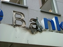Meine Bank ist abgebrannt