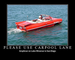 Please Use Carpool Lane (oybay) Tags: california car boat automobile sandiego boating amphicar motivate floater fdflickrtoys lakemiramar amphy