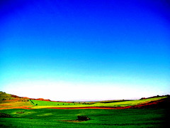 Spain's Open Skies (Ana Bel) Tags: blue sky green field spain scenery instantfaves