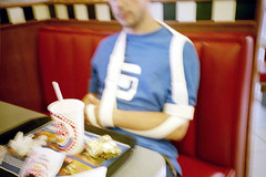 lomo265 (lomokitty) Tags: 2002 film germany deutschland lomo surgery burgerking todo bandage ulm stef