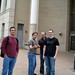 Collin, Nick, Robert, and Adam at the entrance to Posner