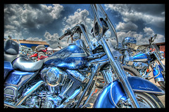 Blue on Fire (Stuck in Customs) Tags: blue sky rot clouds austin texas harley harleydavidson motorcycle hog hdr hogs bestshot rotbikerrally stuckincustoms thatotherpaper