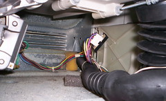 Speed Control Board, Shown with the Revised Door Latch Wiring Adapater, in a Frigidaire / Kenmore Front Loading Washer