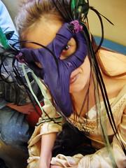 casual (Foxtongue) Tags: transit skytrain masque burrow maquerade goldendress maskl
