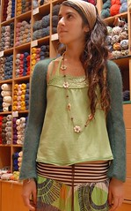 Irini and her first knitting work (sifis) Tags: wool nikon knitting lace knit yarn greece mohair d200 shrug handknitting sakalak