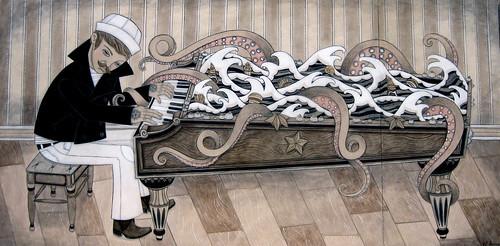 artist: evan b. harris - Salt & Sea Piano Keys