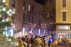 Holiday Crowds (Samantha Decker) Tags: canonef135mmf2lusm canoneos6d christmas ny newyork samanthadecker saratogasprings victorianstreetwalk downtown panorama upstate