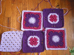 200 crochet blocks in progress