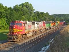 "Eastbound Manifest in Shawnee, KS (""Righteous"" Grant G.) Tags: railroad train colorful power railway trains bn east kansas locomotive ge bnsf unit eastbound manifest zarah emd atsf consist"