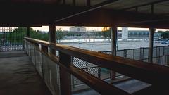 Bus Station (Izamfotos) Tags: sunset summer sky bus sol sunshine station del stairs atardecer sevilla spain shoot time watch seville paso estacion reloj escaleras roja tiempo autobuses