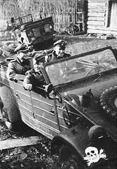 """Kübelwagen besetzt mit Soldaten der Waffen-SS-Division • <a style=""""font-size:0.8em;"""" href=""""http://www.flickr.com/photos/81723459@N04/18676175085/"""" target=""""_blank"""">View on Flickr</a>"""