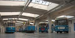 Blick ins MVG Museum (Mr G Spot) Tags: man bus museum munich münchen tram streetcar tramway metrobus ramersdorf mvg trambahn mwagen sl200 fmtm strasenbahn mvgmuseum freundedesmünchnertrambahnmuseums