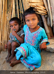 Siblings II (Amna Yaseen) Tags: poverty pakistan summer colour children community siblings tribal nomad pakistani tribe gypsy 2015 sansi