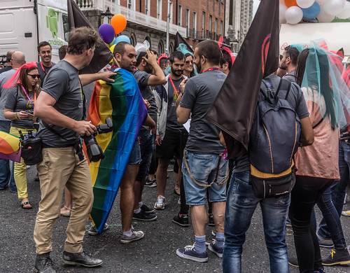 DUBLIN 2015 GAY PRIDE FESTIVAL [BEFORE THE ACTUAL PARADE] REF-106236