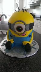 Minion Cake by Kim, Northern Utah, www.birthdaycakes4free.com