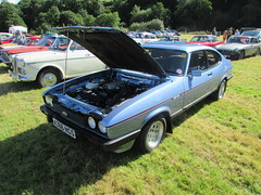 Ford Capri 2.8 Injection A366NGS (Andrew 2.8i) Tags: ford capri 28 injection classic sports car gwili railway show carmarthen bronwydd arms carmarthenshire blue all types transport worldcars coupe hot hatch hatchback v6 cologne uk unitedkingdom