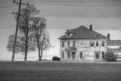 Rural Illinois (ap0013) Tags: blackandwhite bw house abandoned rural illinois farm farmland agriculture hdr ruralillinois route47