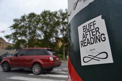 Curly (MaxTheMightyy) Tags: streetart art philadelphia graffiti sticker stickerart stickers postalsticker curly vandal vandalism philly slap usps 228 vandals graffitiart slaps postallabel