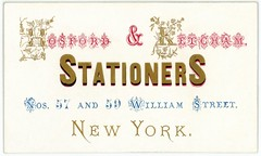 Hosford and Ketcham, Stationers, New York (Alan Mays) Tags: old newyorkcity flowers blue red ny newyork vintage ads paper advertising cards typography gold vines antique 19thcentury victorian ephemera businesscards type williamstreet names advertisements fonts printed officesupplies stationers typefaces nineteenthcentury elaborate ketcham ampersands stationeries hosford hosfordketcham hosfordandketcham