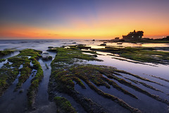 Reef and the Light (Gede Suyoga) Tags: morning sunset sea sky bali cloud reflection beach nature water beautiful sunrise canon indonesia landscape temple eos boat asia pura rol tanahlot rayoflight pemandangan waterscape 5dmarkii