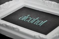 alcohol. (helenetraxler) Tags: typography crossstitch stitch embroidery crafts embroider