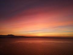 Sunshine (comai.francesco) Tags: light red sky sun lake beautiful sunshine clouds waves sunny perfection iphone