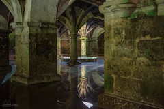 Portuguese Cistern, El Jadida, Morocco (Abhi_arch2001) Tags: portuguese cistern underground light well water reflection mirror arcade arch archway stone tree mold algae ancient architecture morocco moroccan eye dark moist damp