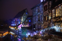 Noël à COLMAR  -  Christmas in Colmar (Philippe Haumesser Photographies (+ 4000 000 views) Tags: nuit night architecture ville city colombages halftimberings illuminations éclairages lumières lights décorations rivière river eau water reflets reflections colmar alsace elsass france hautrhin 68 sonyilce6000 sonyalpha6000 sony noël christmas 2016