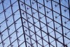 Blue Skies (TanaPerin) Tags: louvre paris sky metal ceiling geometry pattern depth feel blue architecture connections beauty simple less is more lines wires