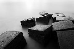 C U B E S (darylswalker) Tags: canon canon6d mycanon myown seascape landscape detail colour bnw black white blackandwhite minimal minimalism sea coast northeast northumberland sunrise