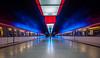 Red and Blue (katrin glaesmann) Tags: hamburg tube metro ubahn station ubahnhof hvv u4 hafencityuniversität colour train