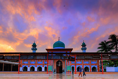 Khair Ul Amal Mosque 2 (Fortunes2011.Toy Heart) Tags: sky clouds architecture weather sunset mosque worldreligionday god spiritual religion islam shia peace harmony