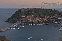 L'ora blu di Porto Ercole - The blue hour of Porto Ercole (Tuscany, Italy) (ricsen) Tags: italia italy toscana tuscany harbour porto port portoercole grosseto argentario maremma blue blu ora hour