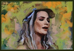 Donna con nastro azzurro - Dicembre-2016 (agostinodascoli) Tags: art digitalart digitalpainting cianciana sicilia nikon nikkor photoshop photopainting texture colore fullcolor