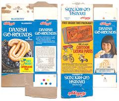 1973 Kellogg's Danish Go-Rounds Box (gregg_koenig) Tags: 1973 kelloggs danish gorounds box 1970s 70s milton toaster breakfast pastries poptarts license plates