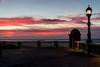 LA GARITA Y LA FAROLA (bacasr) Tags: mar garita promenade farola lamppost paseo light balaustrada spain luz nubes watchtower twilight clouds sea crepúsculo andalucía cádiz españa balustrade