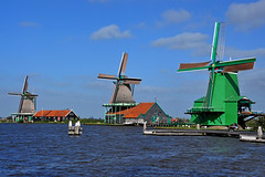 The famous three Windmills at the Zaanse Schans in (Holland) Netherlands (natureloving) Tags: windmill amsterdam netherlands zaanseschans natureloving nikon d90