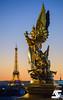 Tour Eiffel & L'Harmonie (A.G. Photographe) Tags: paris parisien parisian france french français europe capitale d810 nikon nikkor 70200vrii lharmonie opéragarnier toureiffel eiffeltower sunset bluehour anto antoxiii xiii ag agphotographe grandpalais
