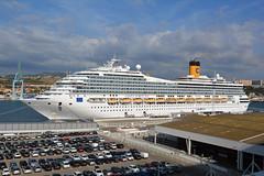 Costa Fortuna at Marseille 4 (PhillMono) Tags: nikon d7100 dslr france marseille marseilles harbour port dock cruise ship boat vessel voyage costa fortuna