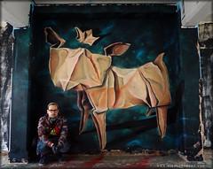 London Calling Dog (Airborne Mark) Tags: origami dog origamidog