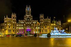 Cibeles by night. - Madrid (Bouhsina Photography) Tags: batiment architecte bouhsinaphotography bouhsina réfugiés couleur street rue lumière nuit cibeles madrid espagne fontaine