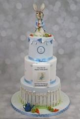Peter Rabbit Christening/Birthday Cake. (Ponty Carlo cakes) Tags: birthdaycake boys bunting cake cardiff christeningcake ganache peterrabbit pontycarlocakes pontypridd sharpedge southwalescakes thetaleofpeterrabbit