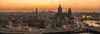Panoramic Amsterdam (reinaroundtheglobe) Tags: amsterdam noordholland nederland skyline cityscape city historicalcity highangleview panorama longexposure buildings evening sunset traffic rushhour