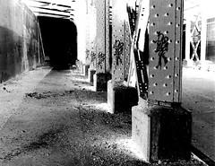 Inverse Universe (paulsvs1) Tags: caution dark surreal inverse netherworld portal paralleluniverse sinister dread queens elmhurst elevatedtrain street urbanphotography photoshop