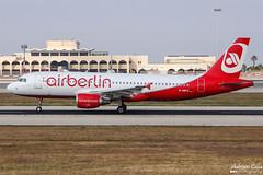 Air Berlin --- Airbus A320 --- D-ABFZ (Drinu C) Tags: plane aircraft aviation sony airbus dsc a320 mla airberlin lmml dabfz hx100v adrianciliaphotography